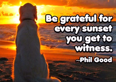 Be grateful for