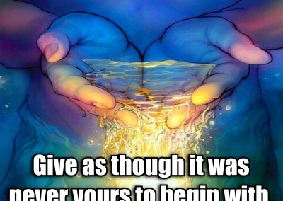 Give as thoug