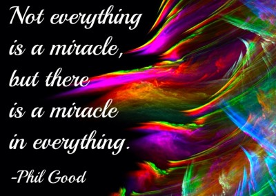 Not everything is a miracle