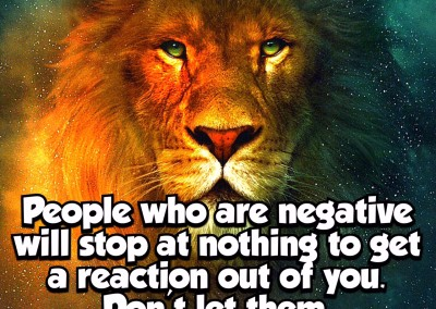 People who are negative