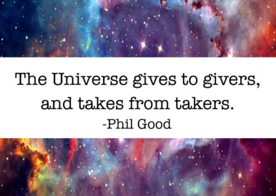 The Universe gives to