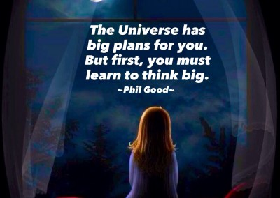 The universe has big plans