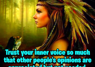Trust your inner voice so much