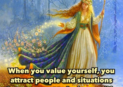 When you value yourself