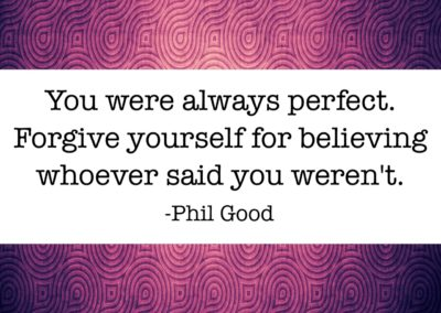 You were always perfect