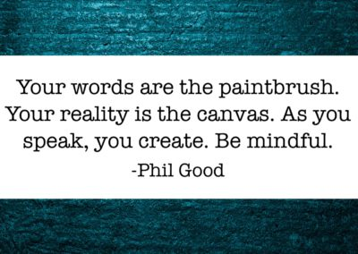 Your words are the paintbrush
